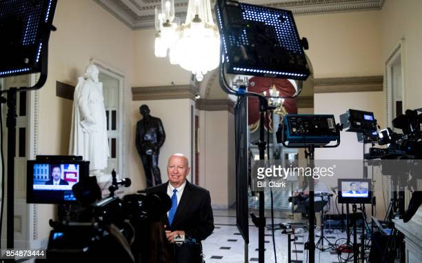 House Ways and Means chairman Kevin Brady RTexas does a television news interview in the Capitol after Republicans unveiled their tax reform plan in...