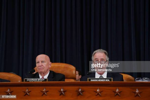 House Ways and Means Committee Chairman Kevin Brady and ranking member Rep Richard Neal deliver opening remarks during the first markup hearing of...