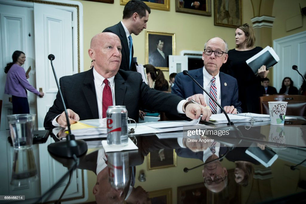 House Ways And Means Committee Chairman Kevin Brady (R TX) And Rep.