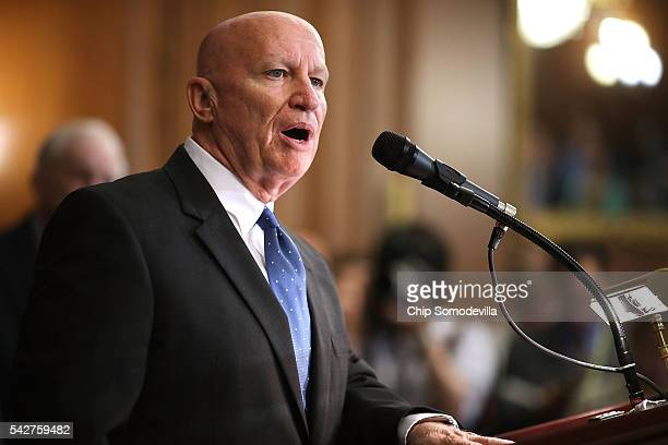 House Ways and Means Committee Chairman Kevin Brady introduces the House Republicans' tax reform proposal in the Rayburn Room at the US Capitol June...