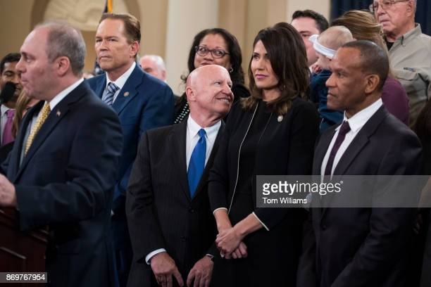 House Ways and Means Committee chairman Rep Kevin Brady RTexas center GOP leaders and members of the committee conduct a news conference in Longworth...