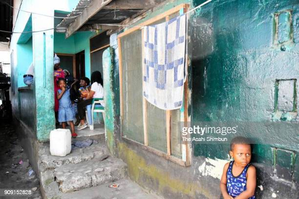 A house where Liberian President Elect George Weah used to live is seen on January 21 2018 in Monrovia Liberia
