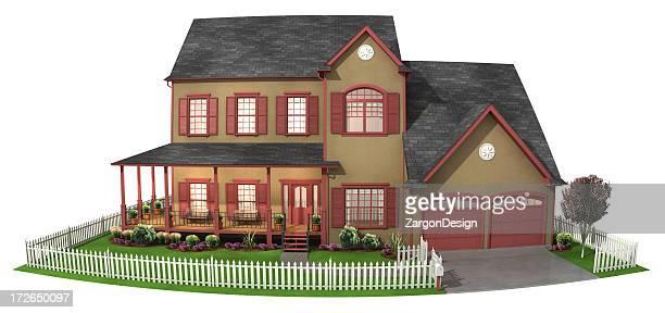 3D house wide angle