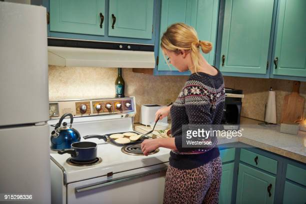 House wife making food in the kitchen