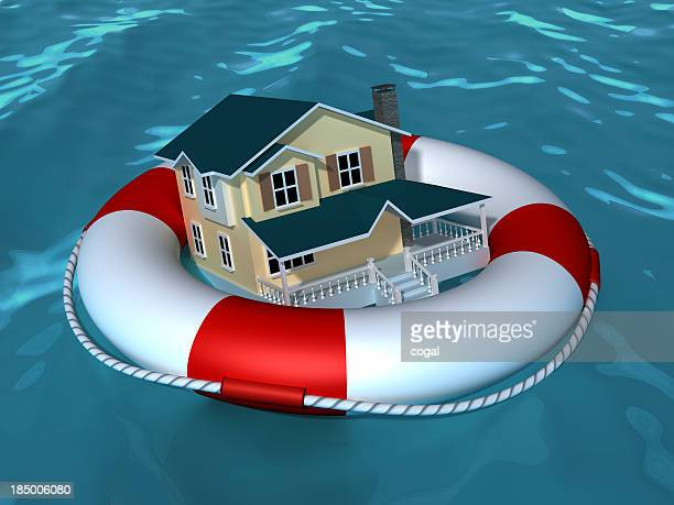 House wih life buoy