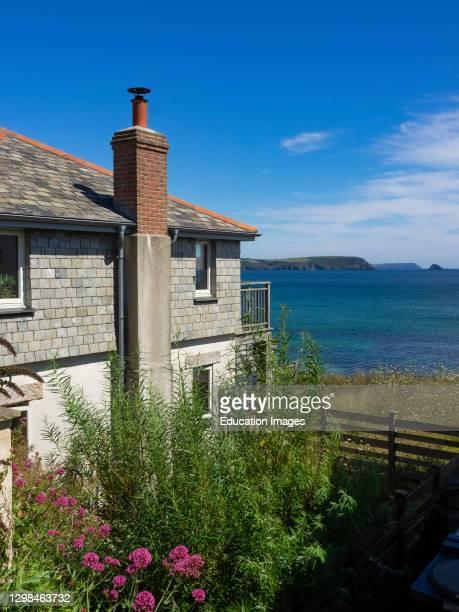 House with a sea view, Portscatho, The Roseland Peninsula, Cornwall, UK.