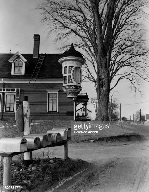 A house with an unusual oriel window USA 1954