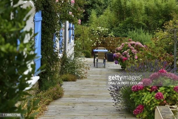 House with garden Carnac Morbihan Brittany France