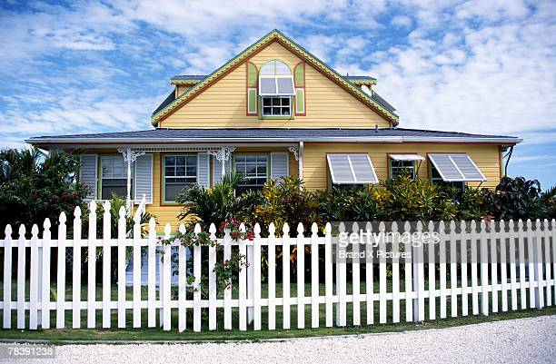 House with picket fence, Grand Bahama, Bahamas