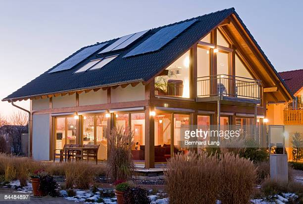 House with solar cells