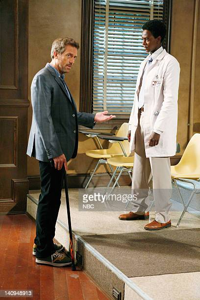 House You Don't Want to Know Episode 8 Pictured Hugh Laurie as Dr Greg House Edi Gathegi as Dr Jeffrey Cole