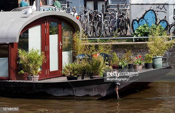 Houseboat Detail in Amsterdam