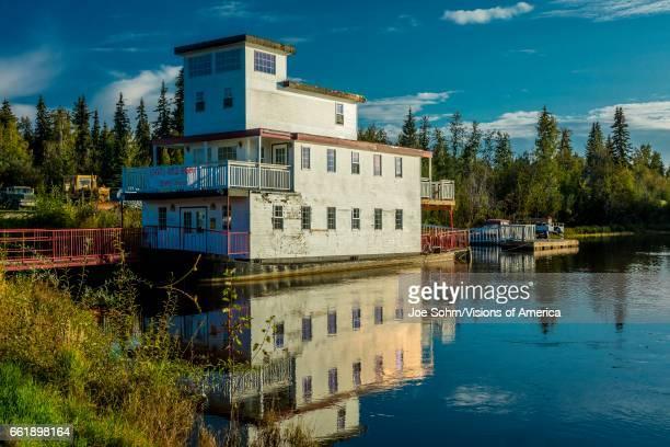 Houseboat on Chena River Fairbanks Alaska