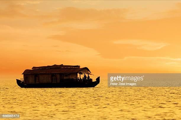 Houseboat on the Vembanad Lake (Kerala, India)
