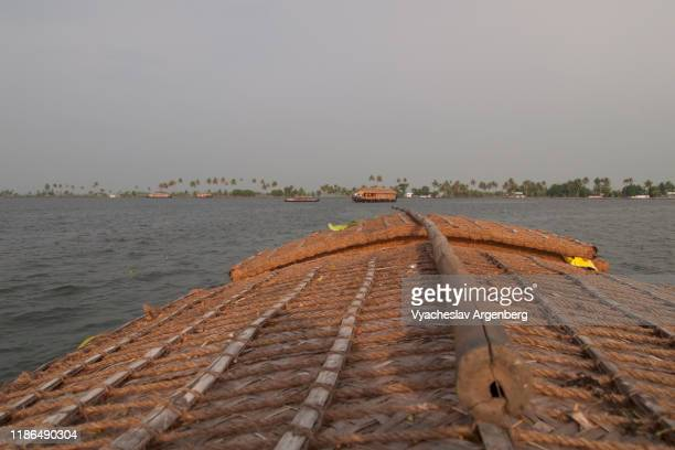 houseboat on vembanad lake, kerala, india - argenberg stock pictures, royalty-free photos & images