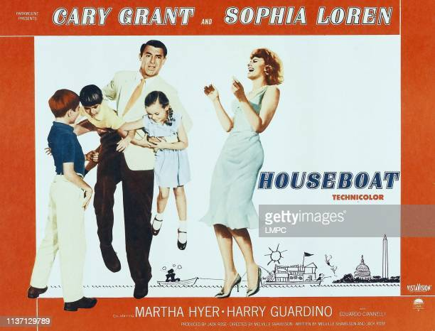 Paul Petersen Charles Herbert Cary Grant Mimi Gibson Sophia Loren on poster art 1958