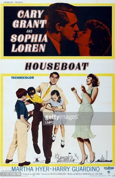 Cary Grant Sophia Loren bottom lr Paul Petersen Charles Herbert Cary Grant Mimi Gibson Sophia Loren on poster art 1958