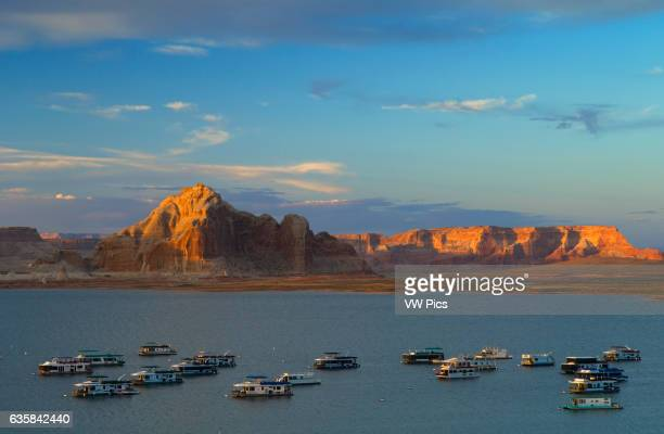 Houseboats at Wahweap Marina on Lake Powell Glen Canyon National Recreation Area Arizona