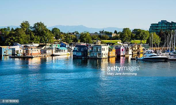 Houseboats off of Victoria Island
