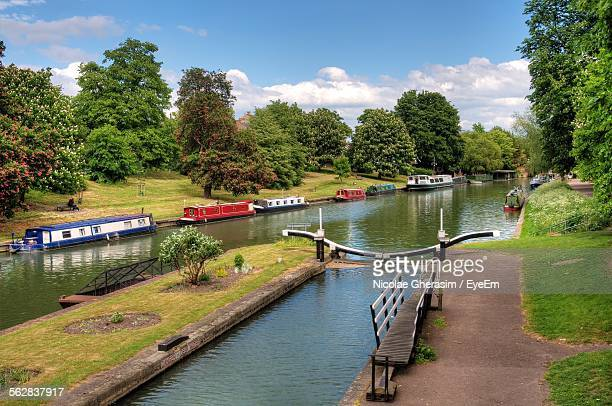 Houseboats On River Cam