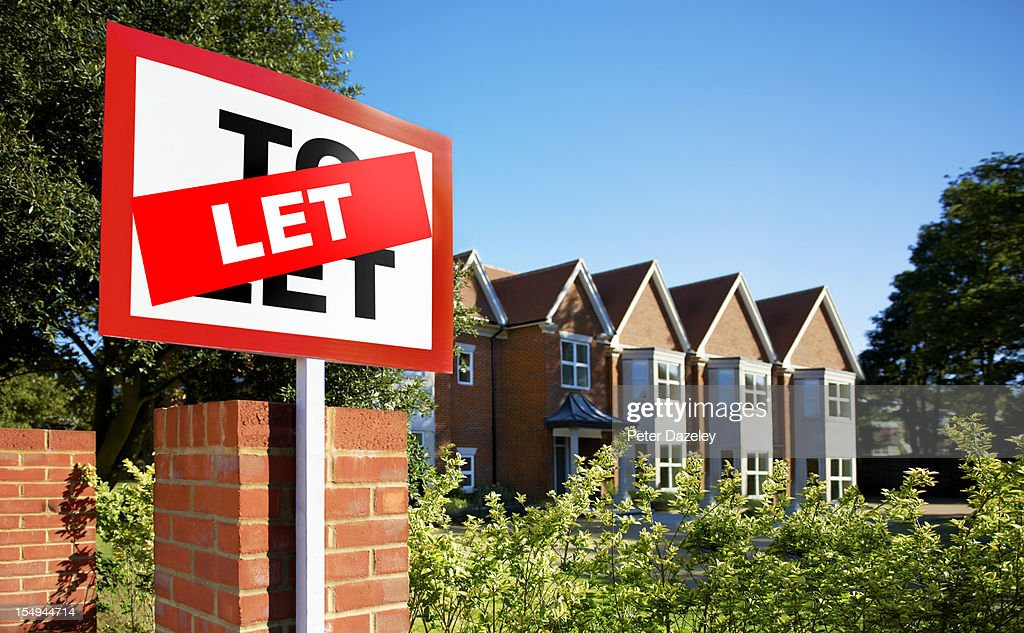 House/flat let sign : Stock Photo