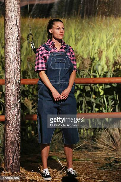 Houseguest Becky Burgess competes in the second HOH competition of the season 'UFOh No' on night two of the two night premiere event of BIG BROTHER...