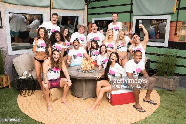 Houseguest of Big Brother 21 LR bottom row Jack Matthews Analyse Talvera David Alexander LR 2nd row Holly Alexander Kemi Fakunle Jessica Milagros Ovi...