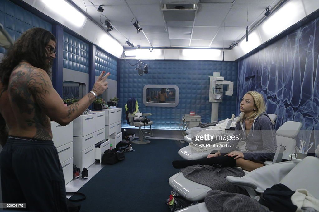 Houseguests Austin and Liz in the 'Have Not' Room on BIG BROTHER, Wednesday, July 1 (8:00 --9:00 PM, ET/PT) on the CBS Television Network.