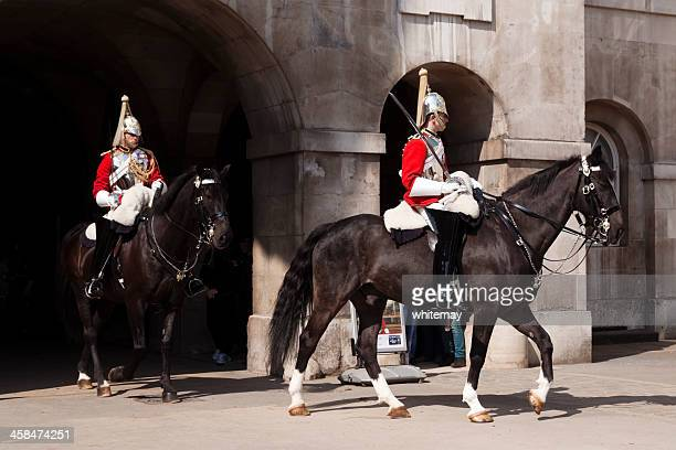 household cavalry at horse guards parade - guardsman stock pictures, royalty-free photos & images