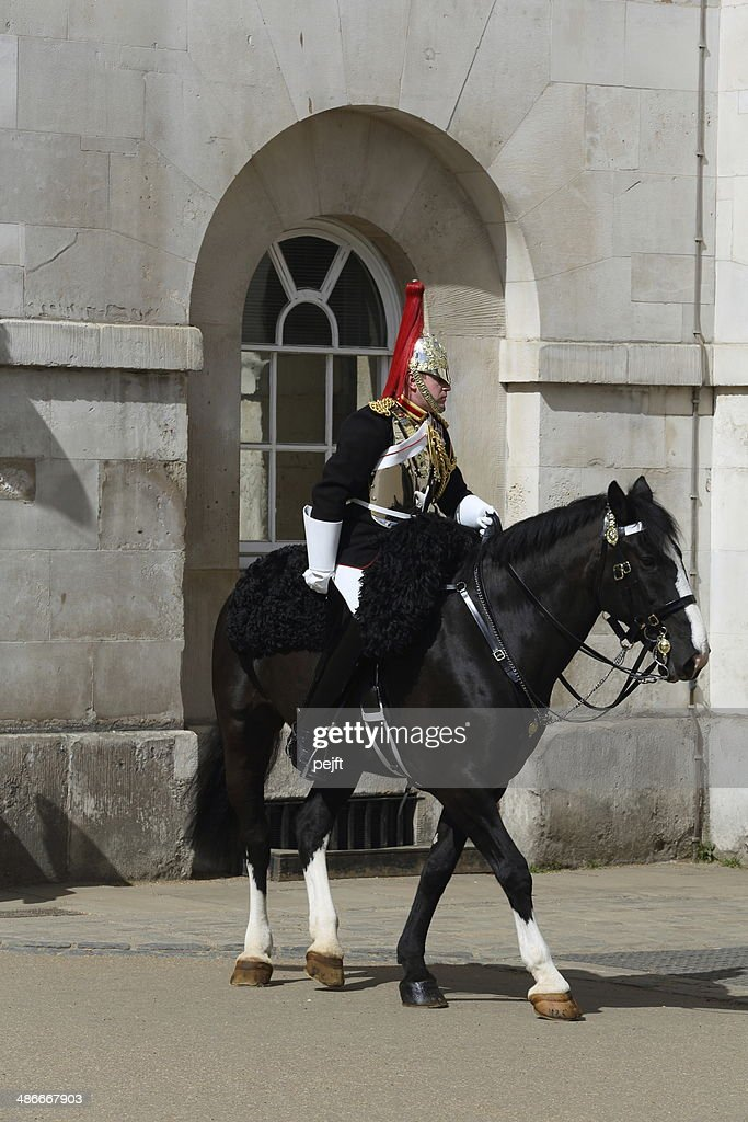 Household Cavalry - change of guards : Stock Photo