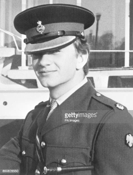 Household Cavalry officer Lieutenant Denis Richard Anthony Daly who died from his wounds sustained from an IRA bomb explosion in Hyde Park London...
