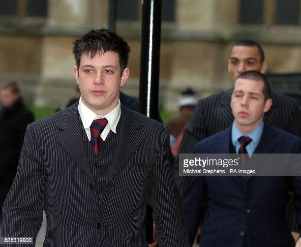 Household Cavalry soldiers Mark Goddard Maurice Mann and Ezphia Rennock arrive at London's Middlesex Guildhall Crown Court Thursday February 2 2006...