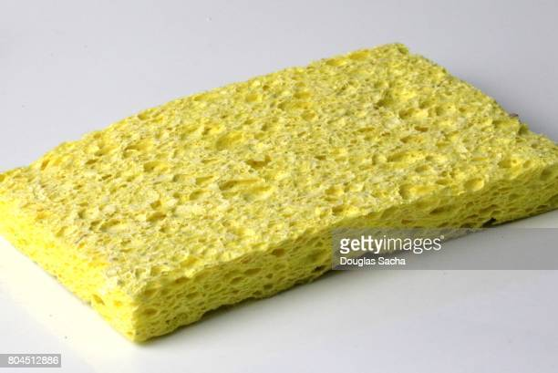 Household Cleaning Sponge on a white background