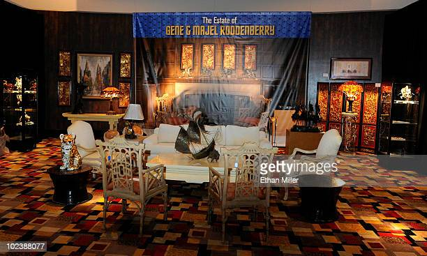 Household items from the estate of Gene and Majel Roddenberry are displayed at Julien's Auctions annual summer sale at the Planet Hollywood Resort...