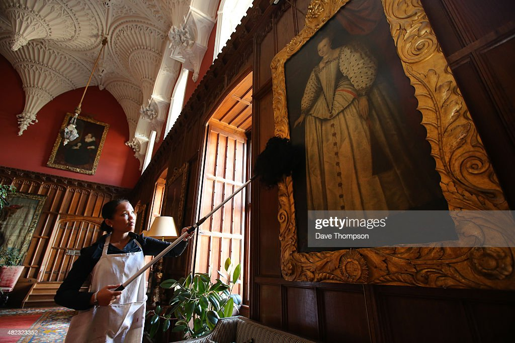 Housekeeper Ning Betts prepares the Gothic Hall at Welbeck Abbey for tours on July 29 & Welbeck Abbey Readies For Rare Public Opening Photos and Images ...