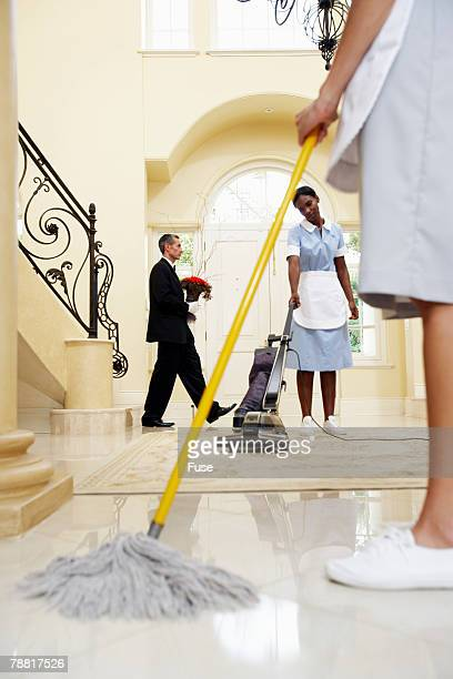 Housekeepers and Butler Working