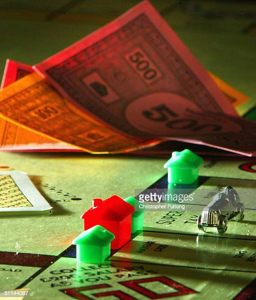 Houses adorn a famous London street on a Monopoly board August 5 in the classic game of property dealing where the prices of property have never...