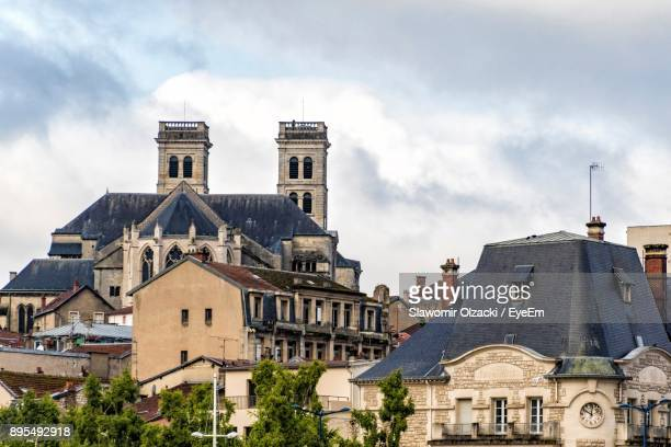 houses against sky in city - lorraine stock pictures, royalty-free photos & images