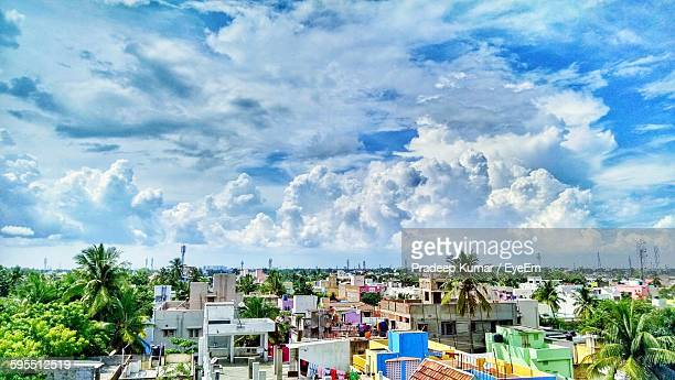houses against sky - chennai stock pictures, royalty-free photos & images