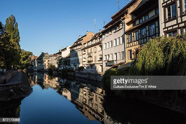 Houses along canal, Strasbourg, France