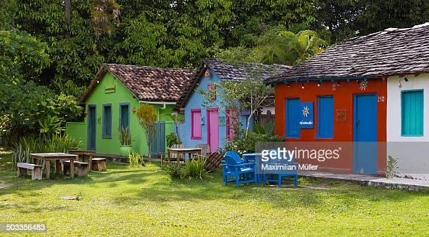 Houses along the Quadrado, Trancoso, Bahia, Brazil