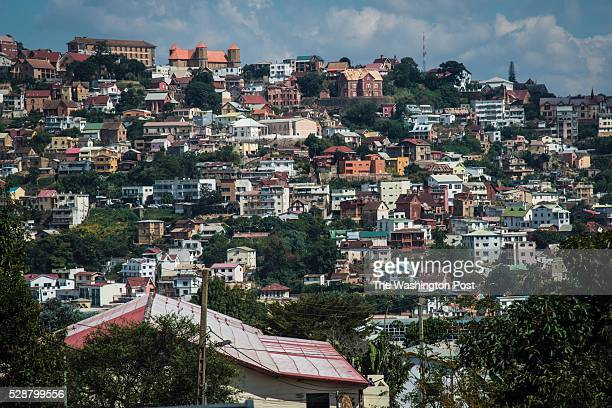 Houses and buildings cover the hills in Antananarivo the capital city of Madagascar on Wednesday May 04 2016