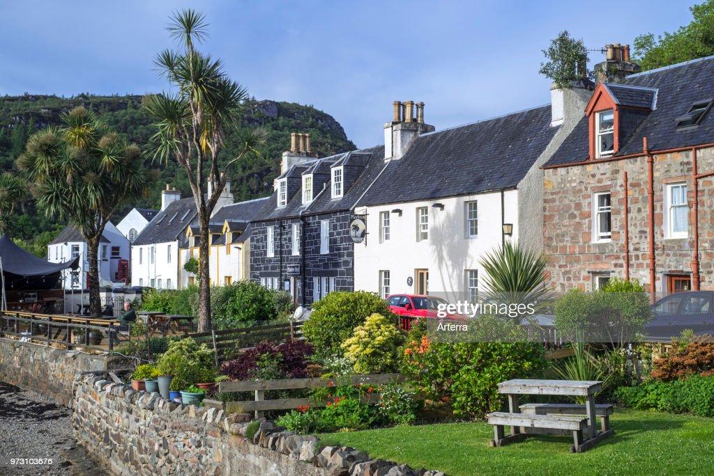 Village Plockton Along Loch Carron
