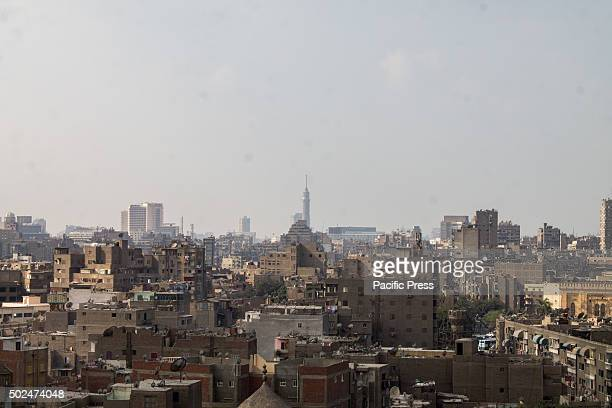Houses and mosques from the top of Fatimid Cairo Cairo Egypts sprawling capital is set on the Nile River At its heart is Tahrir Square and the vast...