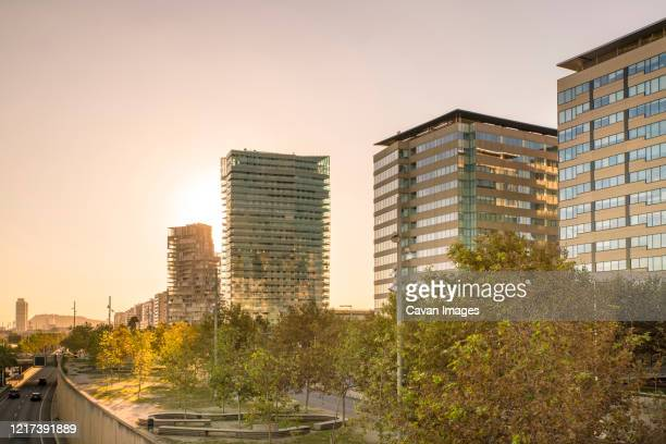houses and offices at diagonal mar and the poblenou maritime front - quayside stock pictures, royalty-free photos & images