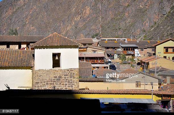 Houses and roofs of Ollantaytambo, Peru