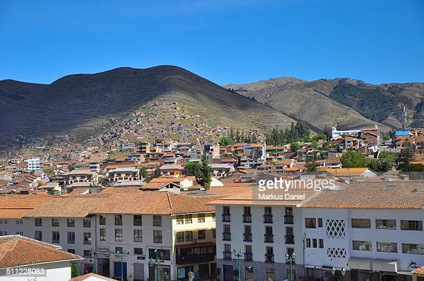 Houses and Rooftops and Andes in Cusco