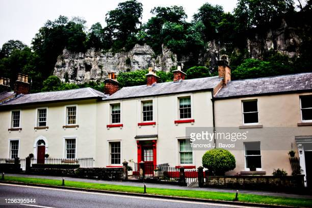 houses at matlock bath - bavosi stock pictures, royalty-free photos & images