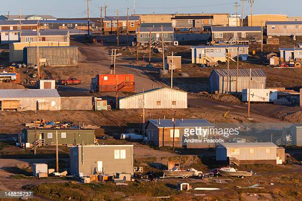 Houses at small Inuit community of Pond Inlet.