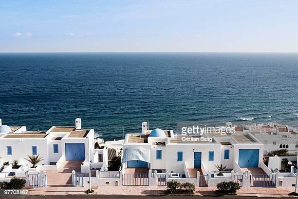 Houses at the sea in San Jose Cape Gata Spain
